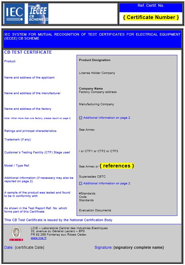 Online Tools Lcie Bureau Veritas